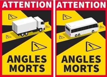 PRANCŪZIJA: informacija dėl transporto priemonių aklųjų zonų žymėjimo